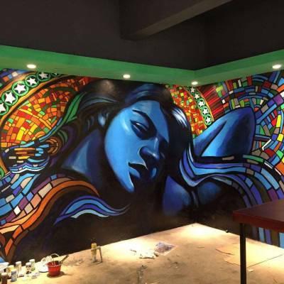 南昌墙体彩绘涂鸦手绘公司!