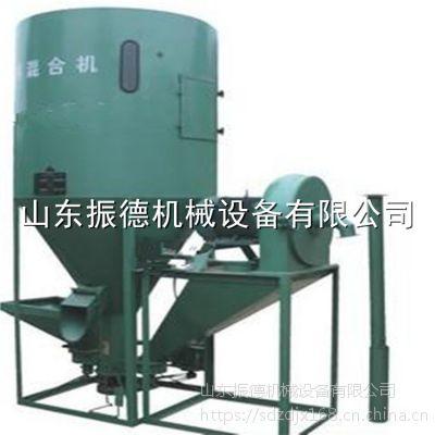 振德牌立式饲料多功能搅拌机 自吸式玉米粉碎搅拌一体机 饲料加工设备
