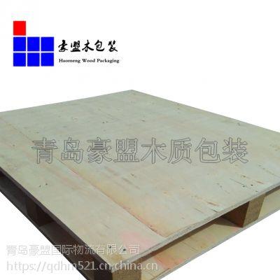 即墨木托盘厂家直销胶合板托盘 出口免熏蒸集装箱尺寸托盘