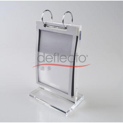 亚克力翻页架,透明菜单架,酒店桌牌架,会议酒店桌牌,有机玻璃定做加工