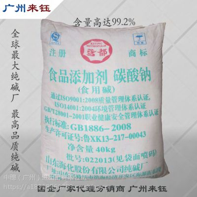 广州食品级纯碱 99.5%糖果加工酱油加工