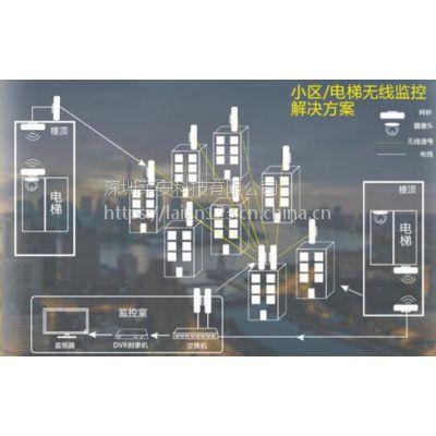 莱安小区电梯无线监控视频传输系统 多发一收无线网桥 电梯网桥安装