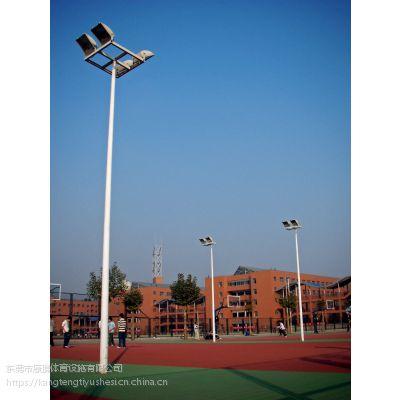 常平羽毛球场灯杆灯具质量,室外篮球场灯柱厂家康腾体育