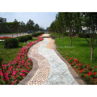 上海广布彩色压模地坪 高性价比路面材料
