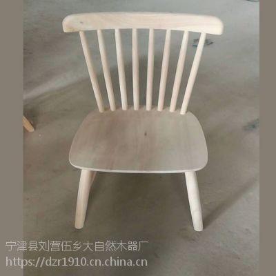 北欧简约橡木实木温莎椅白茬餐桌餐椅白茬咖啡厅西餐厅客厅餐椅白茬