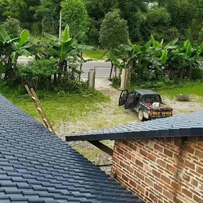 屋顶树脂瓦,ASA防腐仿古pvc瓦片,别墅一体屋檐瓦
