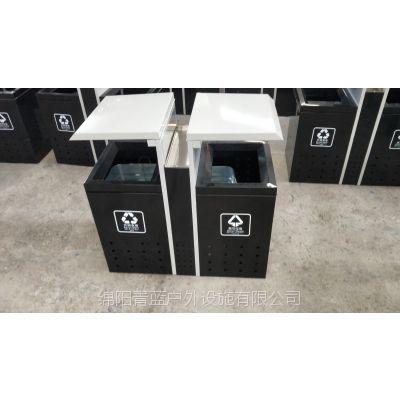 小巧迷你型环卫果皮桶 室内外分类垃圾筒 青蓝可按需定制生产 车站纸屑桶