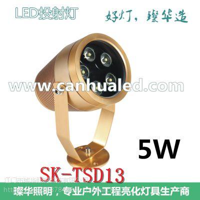 璨华照明新款5W土豪金LED投射灯