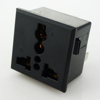 供应wonplug万用国标卡入式电源插座