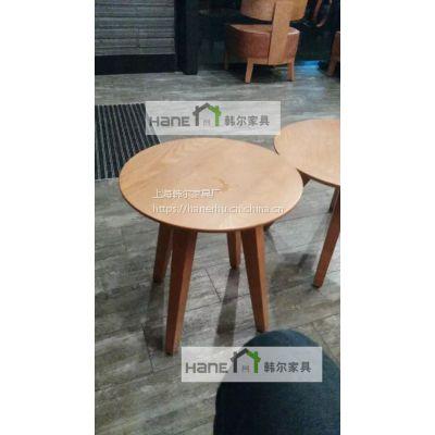 韩尔工厂直销 简约现代星巴克小实木桌子 星巴克咖啡家具定制