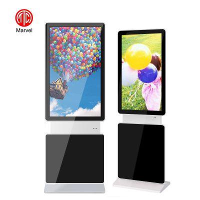 供应55寸mwe955落地立式旋转安卓网络版液晶广告机超薄款