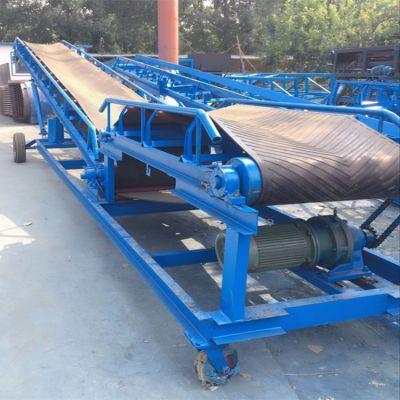 港口多功能皮带输送机 兴亚混泥土V型槽输送机图片