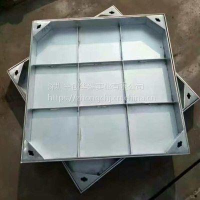 深圳厂家定制 800*800不锈钢装饰隐形井盖 雨水污水电力装饰井盖