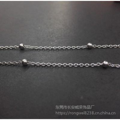 厂家直销威荣不锈钢十字珠链毛衣链