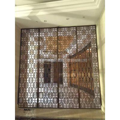 金属隔断 酒店大堂屏风 不锈钢装饰工程