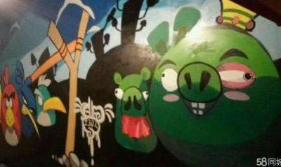 供应上饶 德兴 婺源 广丰 玉山手绘墙画彩绘墙绘涂鸦壁画制作!