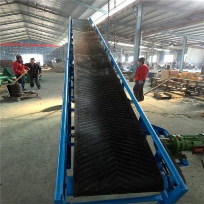 工厂皮带输送机图纸 兴亚定做大倾角皮带输送机型号