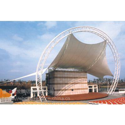 小区舞台景观棚度假酒店屋顶PVDF张拉蓬校园膜结构体育看台
