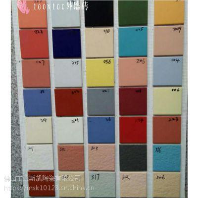 慕斯凯陶瓷100x100内外墙砖 别墅外墙砖 白黄绿黑红蓝 颜色齐全 厨卫瓷砖