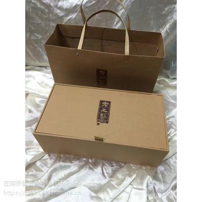 厂家印刷海鲜礼盒包装 手提礼盒印刷 印刷塑料手提彩箱包装