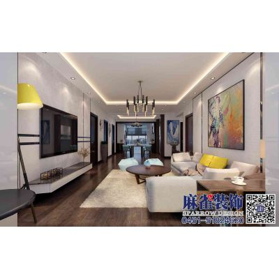麻雀装饰打造滨江国际现代风格