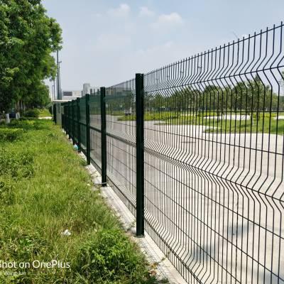 珠海园林绿化围栏供应 河道防护栏定做 现货桃型柱护栏网