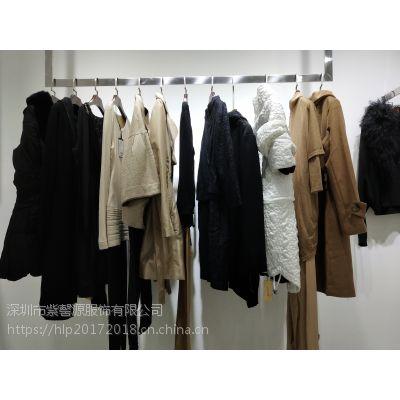 雷朵品牌折扣女装尾货 时尚广州高端品牌女装羊毛纯色大衣低价走份批发