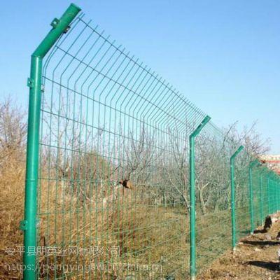 朋英 实体厂家直销 公路双边护栏网 围湖绿色铁丝网 喷塑栅栏网