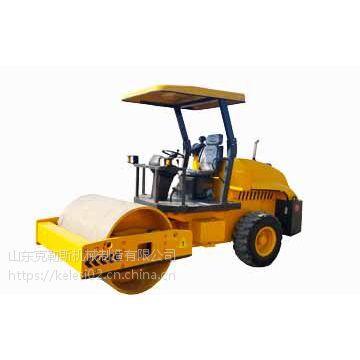 克勒斯供应小型振动压路机带驾驶室 单钢轮碾压机价格便宜市政工程绿化