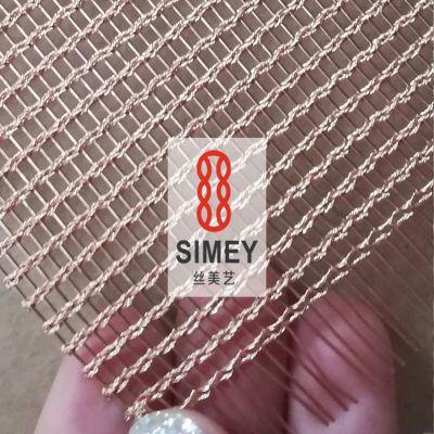 丝美艺软装系列XY-M3165T合股编织网 餐厅隔断网 金色铜丝网