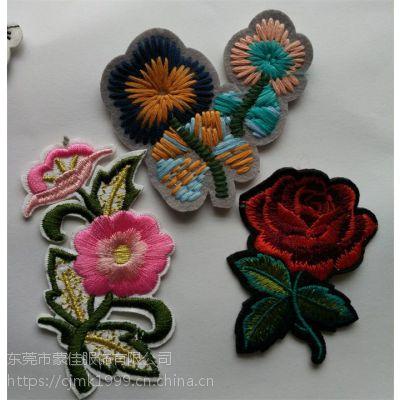 花朵刺绣布贴服装辅料