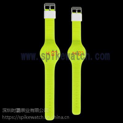 深圳SPIKE钟表厂家供应演唱会专用LED夜光硅胶电子腕表