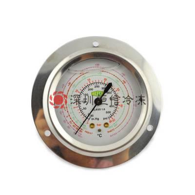 瑞士REFCO威科油压力表制冷设备用高低压压力表轴向压力表