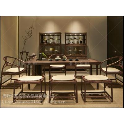 成都中式客栈实木家具 成都仿古新中式家具定制