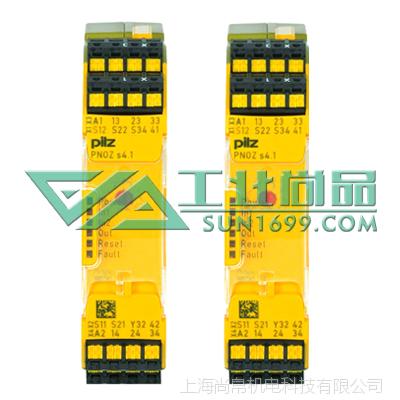 供应PILZ皮尔磁750154_PNOZ s4.1 48-240VACDC安全继电器 尚帛机电