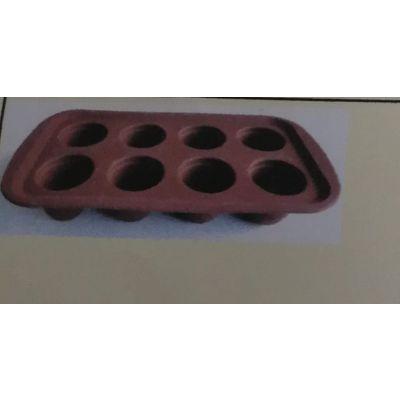 食品级硅胶8孔圆形蛋糕模 冰格巧克力模DIY烘焙