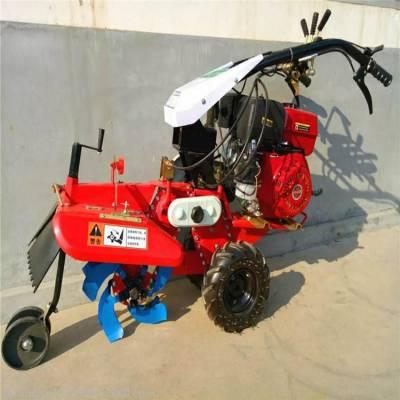 多用型菜园种植扶垄播种机 多种搭配手扶式开沟机 启航耐用型果园管理开沟机