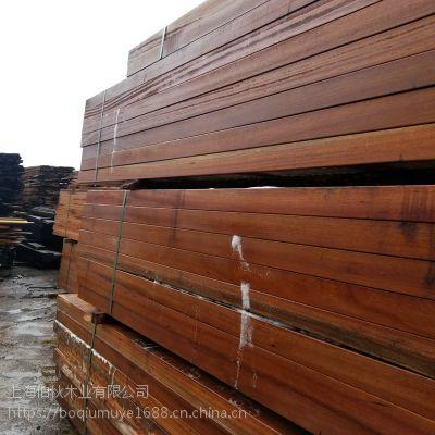 优质现货实木板防腐木加工厂俄罗斯进口原木木板材柳桉木