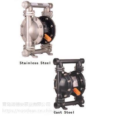 QBY3-20&QBY3-25 3/4寸和1寸不锈钢气动双隔膜泵