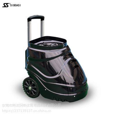 斯波阿斯网球发球机S4015新款黑色全新智能遥控陪练机教练机