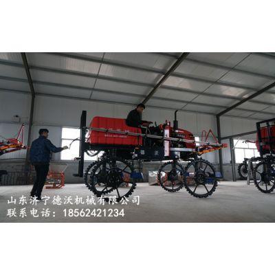 德沃机械五十二马力四缸柴油版自走式打药撒肥机代理商