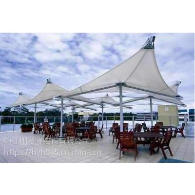 上海舞台膜结构,园林膜结构遮阳棚标志性张拉膜