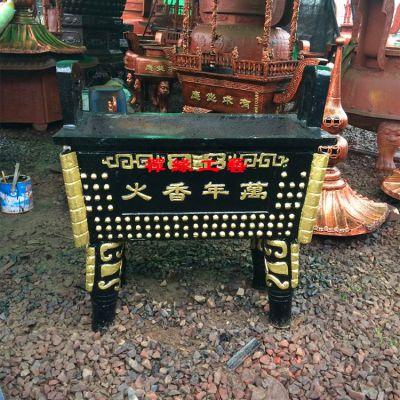 祠堂铸铁长方形香炉鼎 安徽阜阳道观香炉供应商