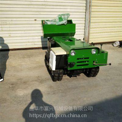 富兴牌性能稳定果园施肥机 履带开沟回填机 自走式自动旋耕机视频