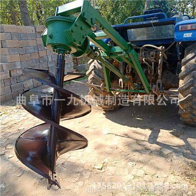 一九牌四沖程汽油種植機單雙人145地鉆送鉆頭 立柱埋樁植樹挖坑機