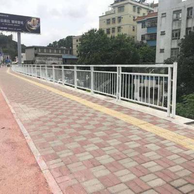 花都园林广场白色甲型护栏厂家直销 石岐市政锌钢护栏面包管