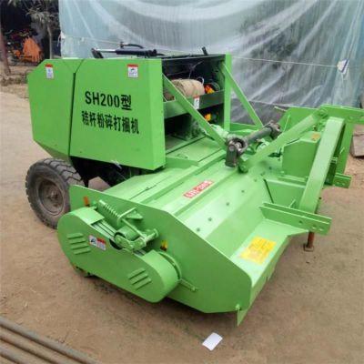 厂家供应拖拉机带动行走式秸秆粉碎打捆机 青贮玉米秸秆打包机