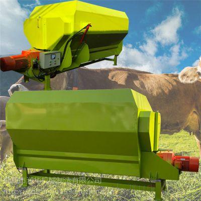 草捆粉碎搅拌机 立式TMR搅拌机参数 定制12立方卧式混料机