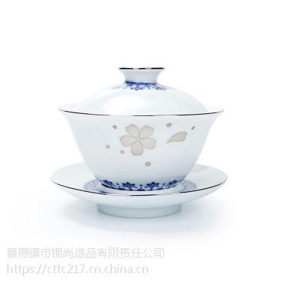 盖碗茶具茶具盖碗单个正品盖碗功夫茶具手绘