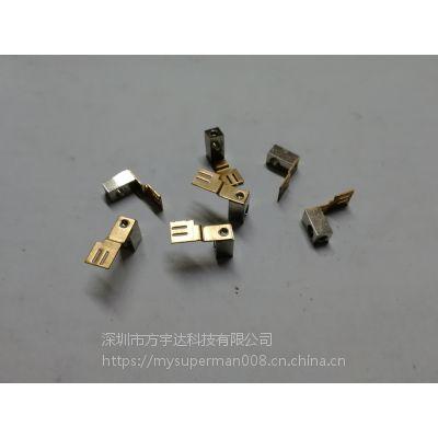 深圳宝安厂家直销五金冲压弹片,电池片,插座接触片,~铜,铁,不锈钢。~接触性能好